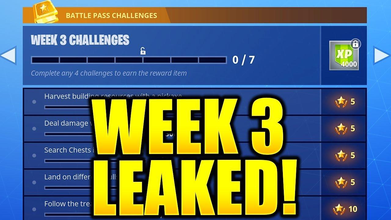 Fortnite Season 5 Week 3 Challenges Leaked Week 3 All Challenges
