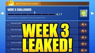 FORTNITE SEASON 5 WEEK 3 CHALLENGES LEAKED! WEEK 3 ALL CHALLENGES EASY GUIDE SEASON 5 BATTLE PASS!