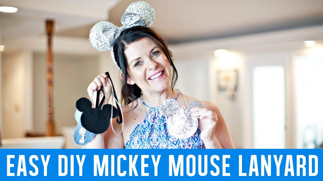 Easy Disney DIY Mickey Lanyard