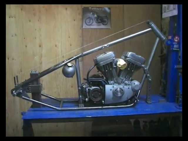 Building A Harley Davidson Sportster Custom Chopper Hardtail Frame