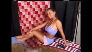 Christina Lucci Model Blue & Pink Daisy Duke