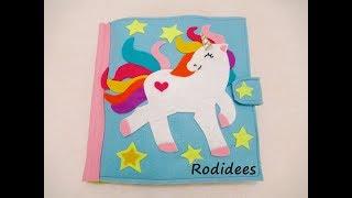 Quiet book unicorn