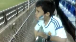 Asi celebra Jorge el gol de su jugador preferido