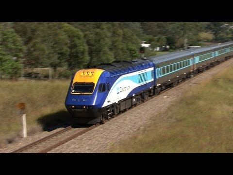 Countrylink XPT Intercity Express Train in the Hunter Valley April 2012