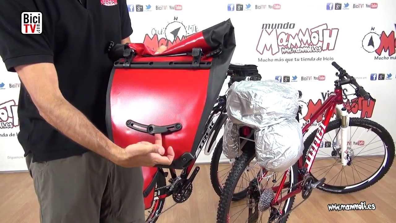 fa1f79a8817 Como llevar equipaje sobre la bicicleta (2ª parte). Alforjas - YouTube