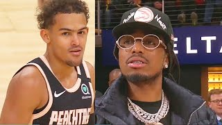 Trae Young Shocks Quavo & Entire Hawks After Breaking Andre Iguodala's Ankles Scoring 50 Po