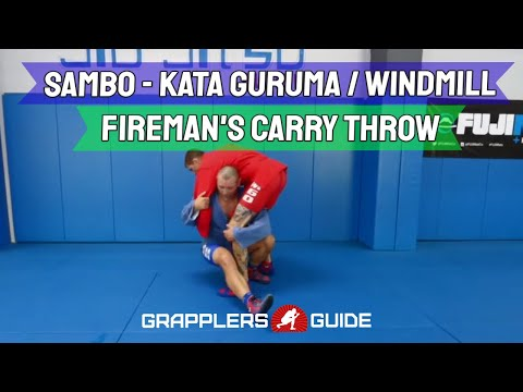 Vladislav Koulikov - Windmill / Kata Guruma / Fireman's Carry Throw Options - Sambo