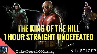 1 HOUR STRAIGHT UNDEFEATED Injustice 2 - KING OF THE HILL Matches With ROBIN REPLAY OF LIVE STREAM thumbnail