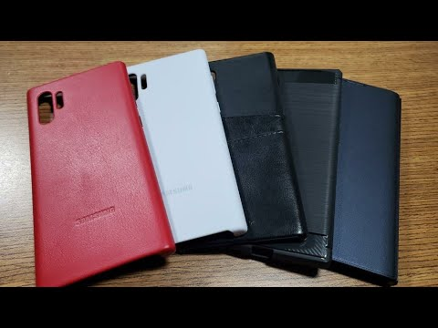 Samsung Galaxy Note 10 Plus Leather Case, And LED Case Cover!
