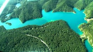 Плитвицкие озера, Хорватия. Вид с вертолета