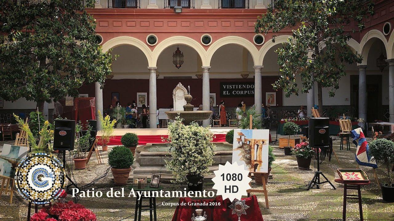 Granada centro patio interior del ayuntamiento de - Patios de granada ...