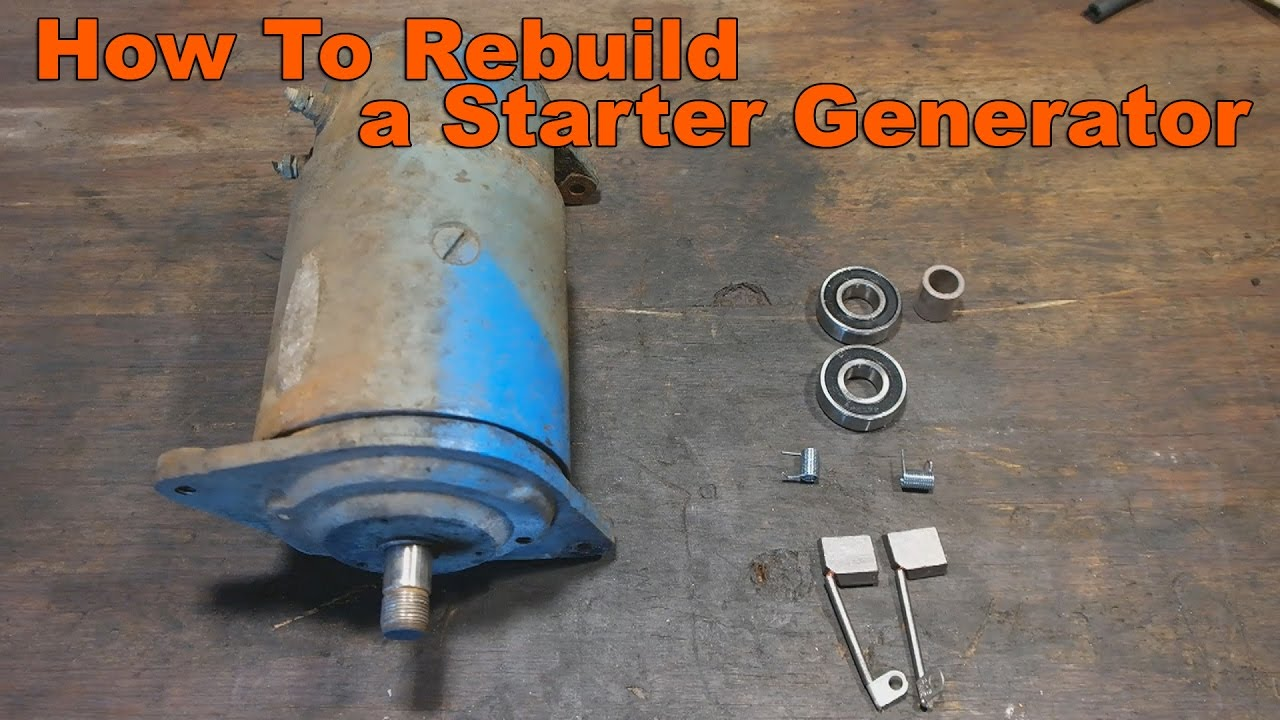 hight resolution of how to your rebuild garden tractor s starter generator