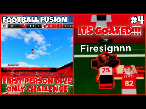 GOATED FIRST PERSON PLAYER!!!(FOOTBALL FUSION)