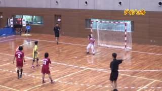 H25 第22回 JOCジュニアオリンピックカップ ハンドボール大会 福井VS岡山(ダイジェスト)(女子予選リーグ)