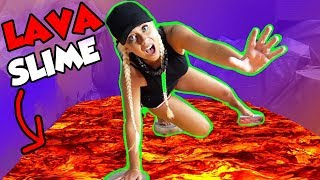 THE FLOOR IS LAVA SLIME! 300 LBS OF SLIME EDITION! | NICOLE SKYES