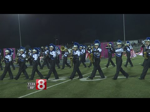 Southington High School marching band performs for football games