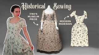 Recreating my favorite 18th Century museum gown as a modern spring dress (Part 2: Sewing the Dress)