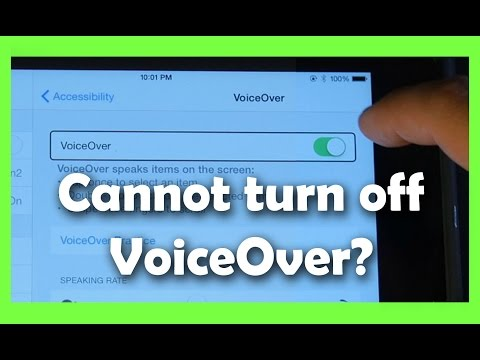How to Fix Accessibility VoiceOver Problem iPad, iPhone