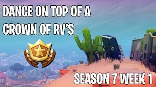 Dance On Top Of A Crown Of RV's (Season 7 Week 1 Challenge) | Fortnite