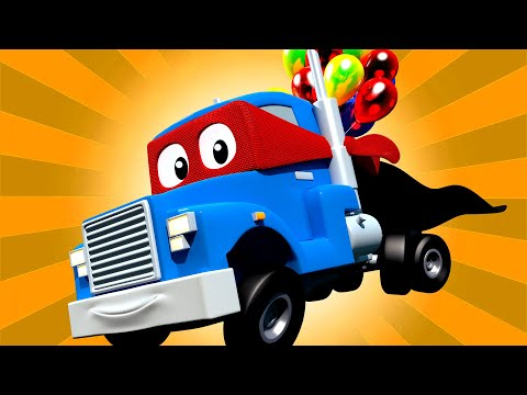 The HOT AIR BALLOON TRUCK + Carl the Super Truck - Car City ! Cars and Trucks Cartoon for kids