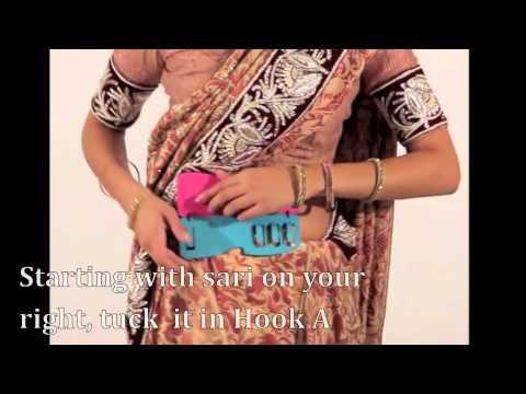 Saree Demo:  Quick, Easy and Graceful South Indian (Ulta Pallu) Style Sari - Saree