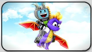 Roblox Dragon Keeper Flying In The Sky With Spyro