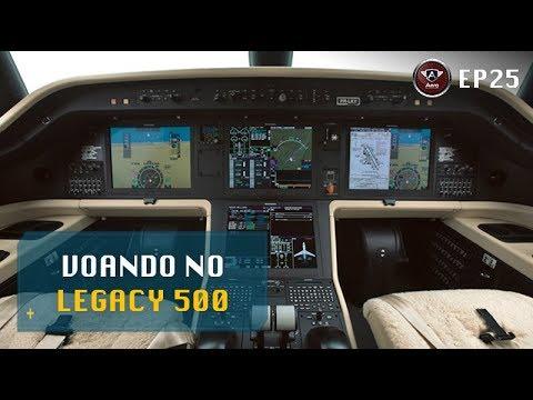 A bordo do Embraer Legacy 500 - Alta Tecnologia da Aviação.