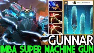 GUNNAR [Tiny] Imba Super Machine Gun One Combo K.O 7.22 Dota 2
