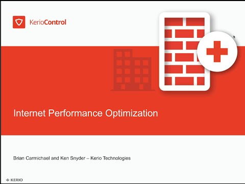 Kerio Control: Internet Performance Optimization