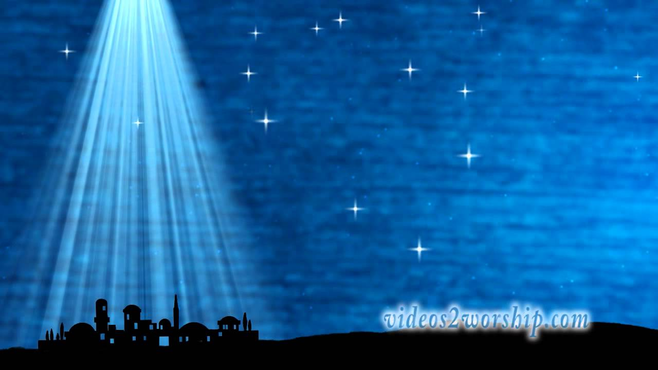 Classic Christmas Motion Background Animation Perfecty: Little Town Of Bethlehem Christmas Motion Background