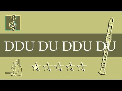 Recorder Notes Tutorial - 뚜두뚜두 Ddu-Du Ddu-Du - BLACKPINK 블랙핑크 & BTS 방탄소년단 (Sheet Music)
