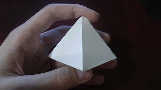 Как сделать ПИРАМИДУ из бумаги?
