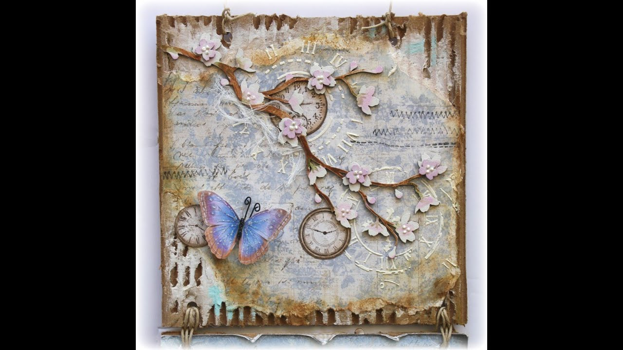 Mixed Media Butterfly Wall Hanging Youtube