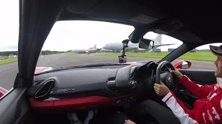 A hot lap with Sebastian Vettel, in a Ferrari 488
