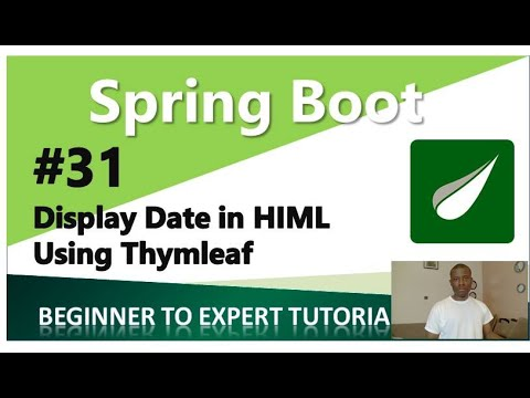 Spring Boot Tutorial 31 -  Display Data On Html Using Thymeleaf (Thymeleaf Tutorials)