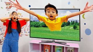 Wendy and Eric Gets Sucked into the TV | Kids Learn Not to Watch Too Much TV screenshot 1