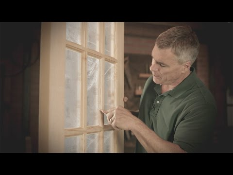 How to Remove Window Glaze on a Wood Door | Reeb