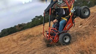 380lb Man Crashes A Gokart!!!