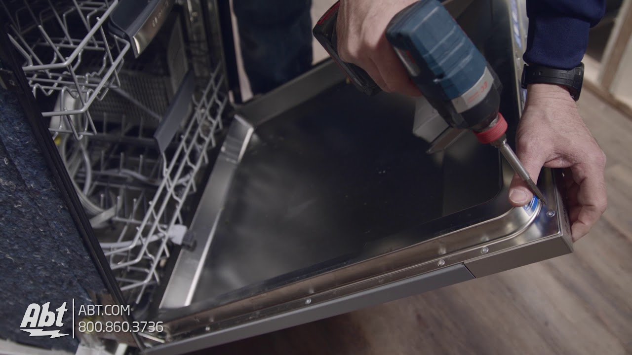 How To Bosch Dishwasher Panel Installation Youtube