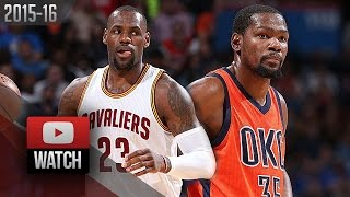 lebron james vs kevin durant mvp duel highlights 2016 02 21 thunder vs cavaliers must watch