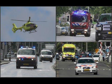 Hulpdiensten naar reanimatie Lodewijk Pincoffsweg Rotterdam + Spoedtransport naar Sophia kinderzkh