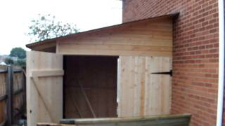 Wooden Building In Coventry. Partly Shed Partly Office Made By Handyman From Coventry