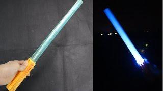Как сделать световой меч - звездные войны меч