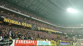 Klipp på AIK-klacken (AIK - Hammarby 1-0)