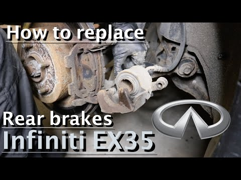 How to replace rear brake pads and rotors on Infiniti EX35 : DIY