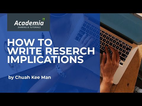 How To Write The Implications Section Of Research Writing