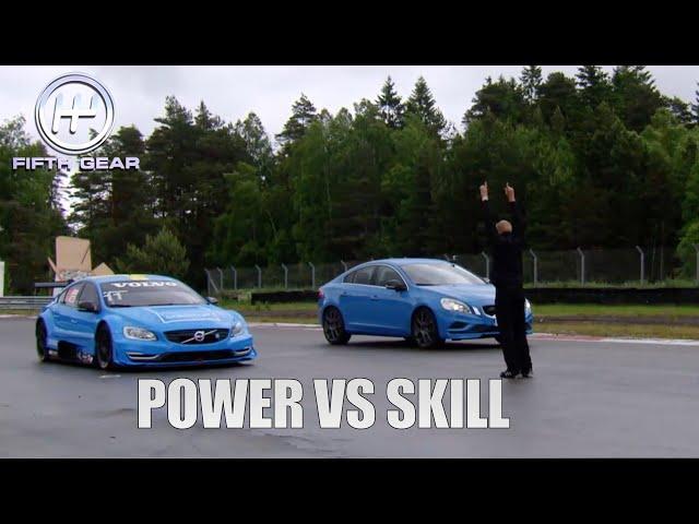 Volvo race car VS Volvo S60 polestar in Speed VS Skill   Fifth Gear
