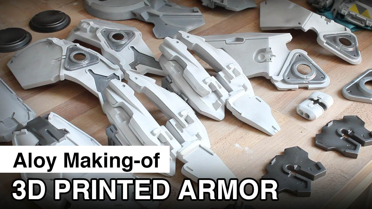 Aloy Cosplay Making Of 3d Printed Armor Painting Youtube