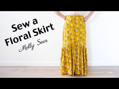 Sew A Floral Skirt - Maxi Skirt With Ruffles
