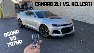 Camaro ZL1 Vs. Challenger Hellcat.. Which is FASTER & BETTER!?